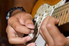 Solo guitar, guitar player Royalty Free Stock Photos