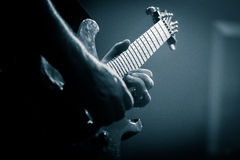 Solo Guitar Player royalty free stock photography