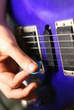 Solo guitarist Royalty Free Stock Photos