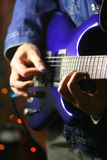 Solo guitarist Royalty Free Stock Photography