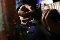 Solo guitarist Stock Image