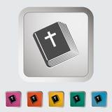 Solo icono de la biblia. Foto de archivo