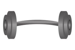 solo icono de la pesa de gimnasia ilustración del vector