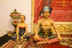 Indonesian sculptures of the sultan family Royalty Free Stock Images