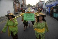 SOLO INDONESIAN CARNAVAL CITY Royalty Free Stock Photography