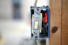 Solo interruptor ligero de poste Foto de archivo libre de regalías