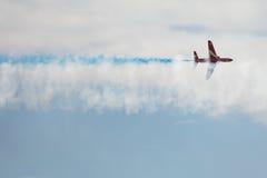 Solo jet del T1 del halcón en salón aeronáutico Fotos de archivo