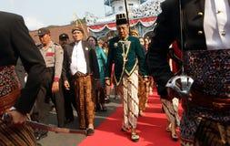 Solo king's palace Pakubuwono XIII follow jumenengan carnival Royalty Free Stock Images