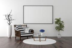 Solo krzesła i puste miejsce obrazka ramy tło Obrazy Royalty Free