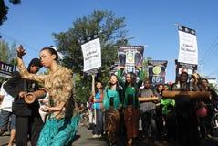 Campagne d'heure de la terre en Indonésie Images libres de droits