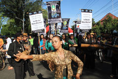 Campagne d'heure de la terre en Indonésie Photographie stock