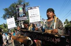 Campagne d'heure de la terre en Indonésie Photos libres de droits