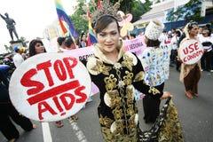 Journée mondiale contre le SIDA de marque de la Communauté de transsexuel Photographie stock
