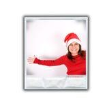 Solo marco de la foto con imagen de la Navidad Fotos de archivo libres de regalías