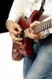 solo na gitarze Fotografia Royalty Free