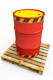Solo oil barrel on a pallet Stock Image