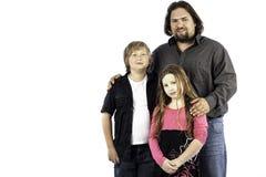 Solo papá con los niños Imagenes de archivo