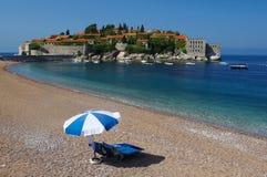 Solo paraguas Sv.Stefan Montenegro Foto de archivo