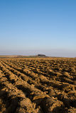 Solo Ploughed Foto de Stock Royalty Free