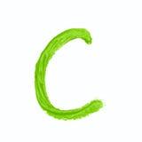Solo símbolo de letra del ABC aislado Fotografía de archivo libre de regalías