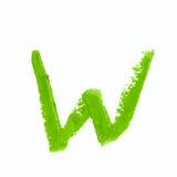 Solo símbolo de letra del ABC aislado Imágenes de archivo libres de regalías