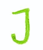 Solo símbolo de letra del ABC aislado Imagen de archivo
