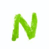 Solo símbolo de letra del ABC aislado Fotografía de archivo