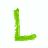 Solo símbolo de letra del ABC aislado Fotos de archivo