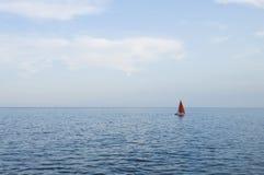 Solo Sail Boat Royalty Free Stock Image