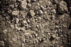 Solo seco e pedras foto de stock royalty free