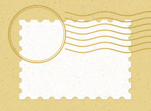 Solo sello en blanco horizontal Imagen de archivo libre de regalías