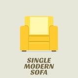 Solo Sofa Flat Design moderno Imágenes de archivo libres de regalías