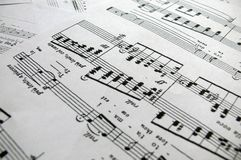 Solo song notes Royalty Free Stock Photos