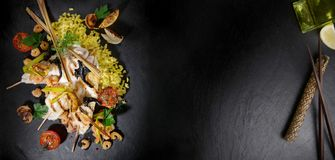 Solo - stile asiatico dei pesci piatti fotografia stock