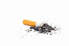 Solo tope de cigarrillo con la ceniza Imagenes de archivo