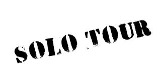 Solo Tour rubber stamp Royalty Free Stock Photo