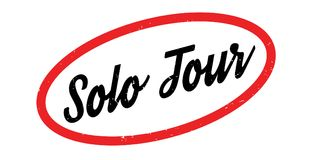 Solo Tour rubber stamp Stock Images
