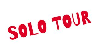 Solo Tour rubber stamp Stock Photo