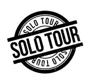Solo Tour rubber stamp Stock Image