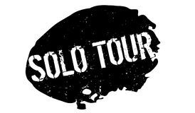 Solo Tour rubber stamp Royalty Free Stock Photography