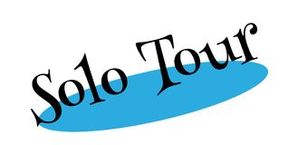 Solo Tour rubber stamp Royalty Free Stock Images