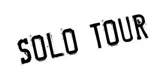 Solo Tour rubber stamp Royalty Free Stock Image