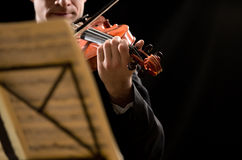 Solo violin performance Royalty Free Stock Image
