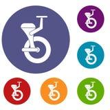 Solo wheel icons set Stock Photo