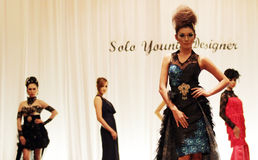 Solo Young Fashion designer Stock Images