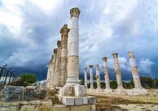 Soloi pompeipolis (mersinen, Turkiet) Arkivbild
