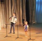 Soloist of child Stock Photos