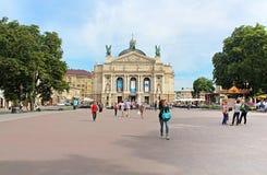 Solomiya Krushelnytska State Academic Opera and Ballet Theatre, Lviv, Ukraine Stock Photography
