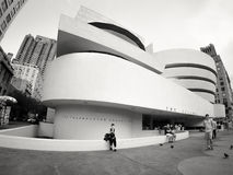 Solomom R Guggenheimmuseum in de Stad van New York stock foto