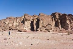 Solomon filary przy Timna parkiem w Izrael obraz stock